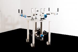 4er-Plaudertisch vor weißem Hintergrund