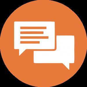 Icon Plaudertisch Kommunikation