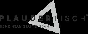 Plaudertisch Logo mit invertierten Farben