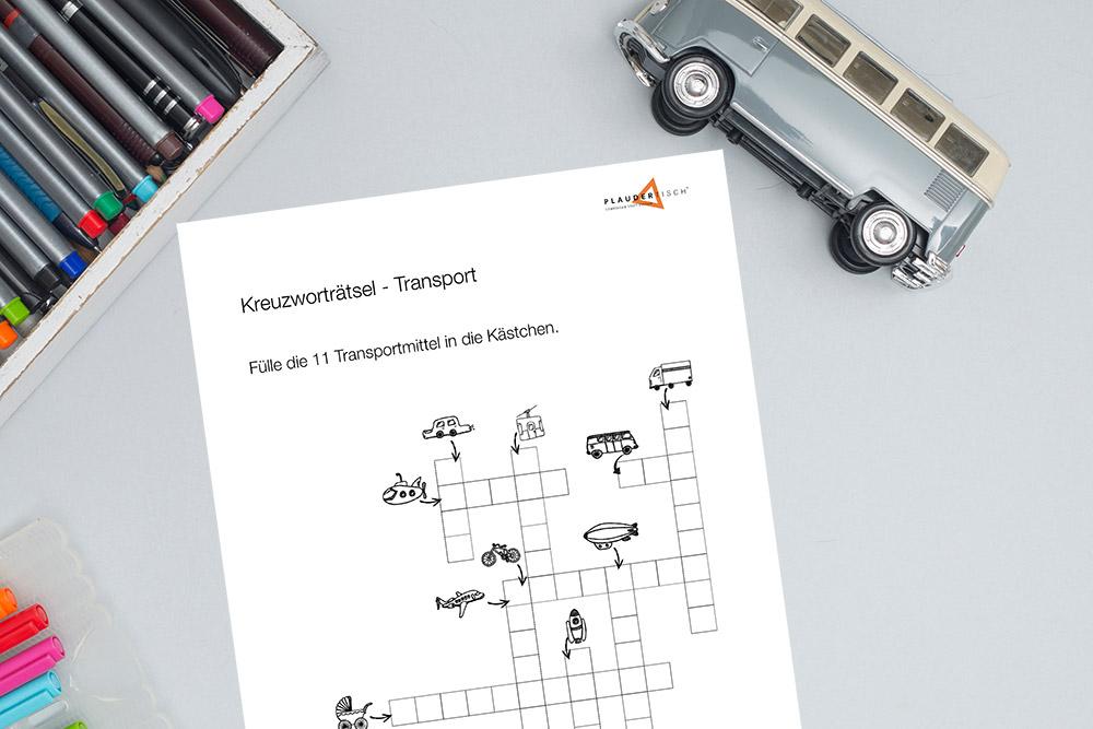 Kreuzworträtsel für Senioren zum Ausdrucken