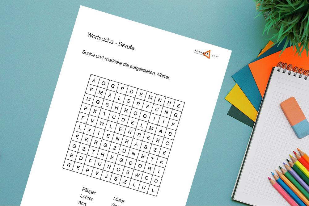Wortsuche-Rätsel für Senioren zum Ausdrucken