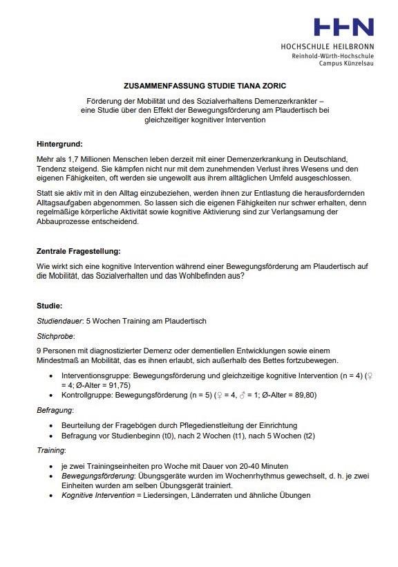 Screenshot eines Dokuments mit Logo der Hochschule Heilbronn in der oberen rechten Ecke